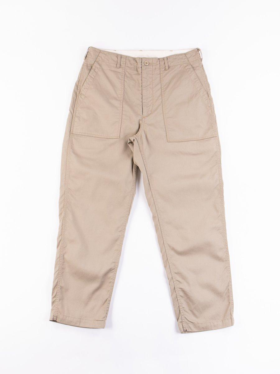 Khaki 6.5oz Flat Twill Fatigue Pant