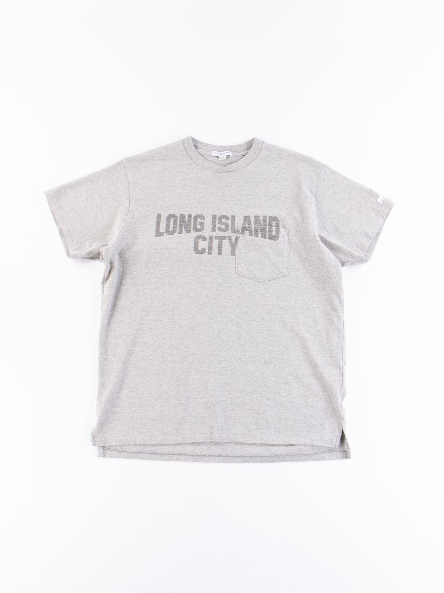 Grey Long Island City Printed T–Shirt