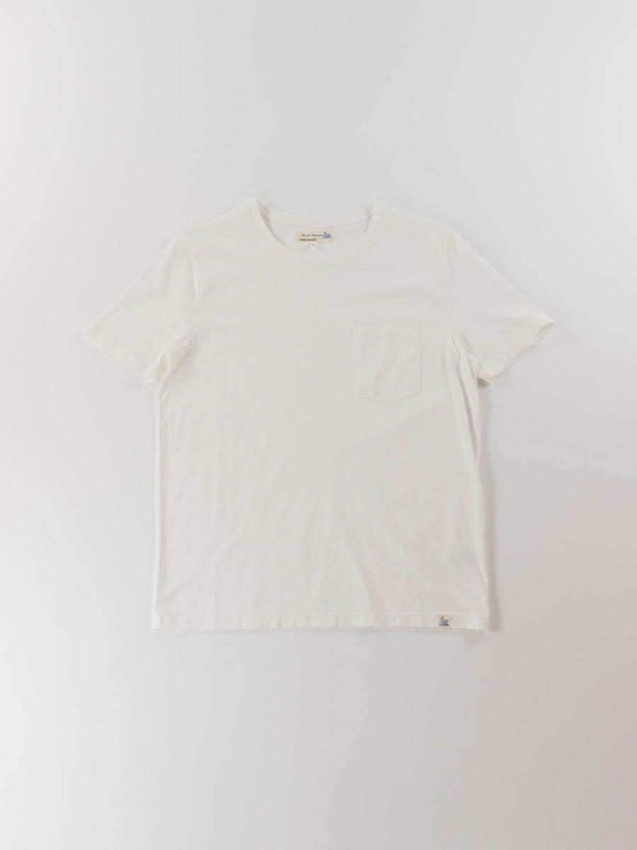 GOOD BASICS CREW NECK POCKET T–SHIRT WHITE