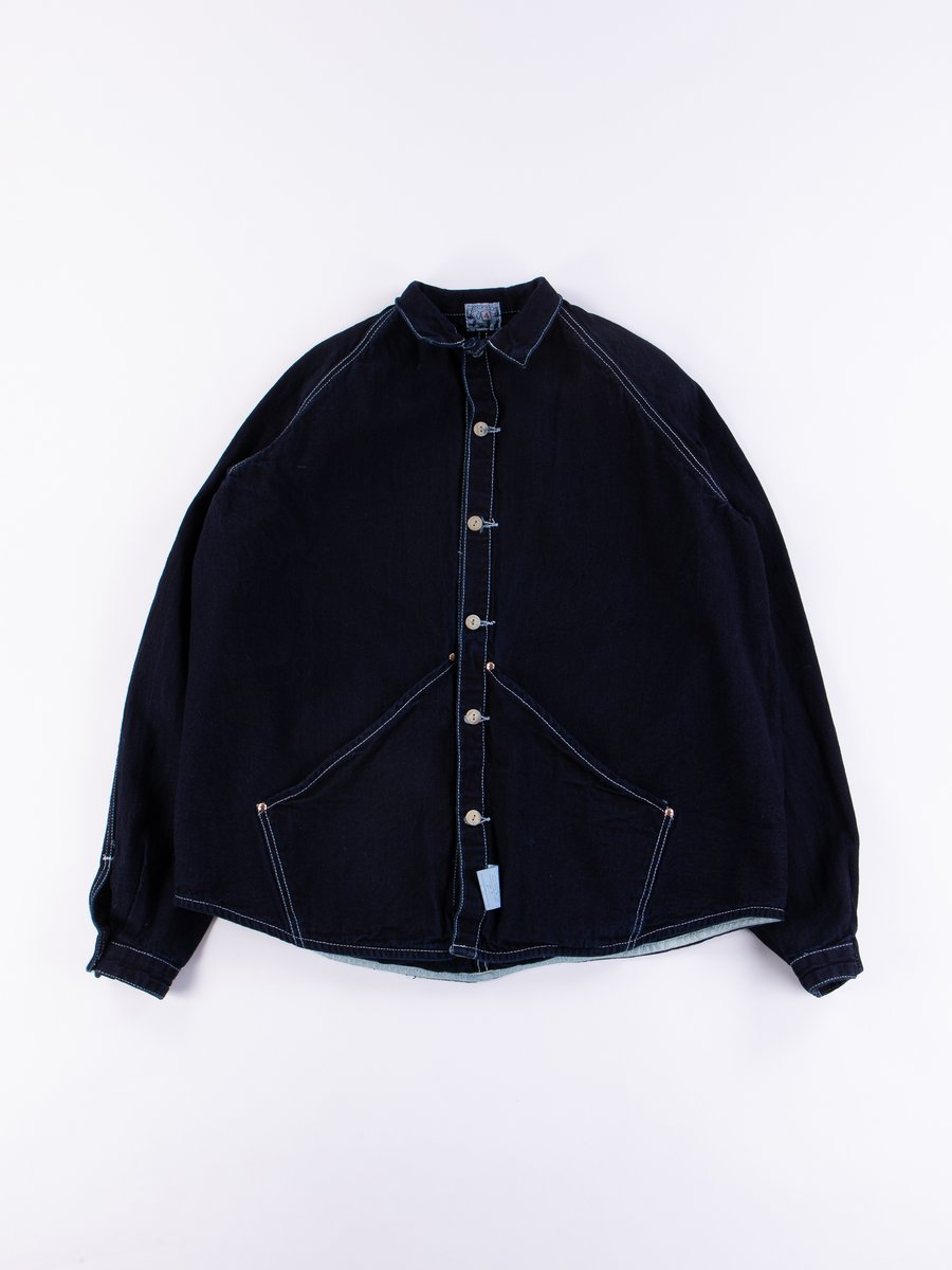 Rinse Wash Indigo Taunton Raglan Wallaby Jacket