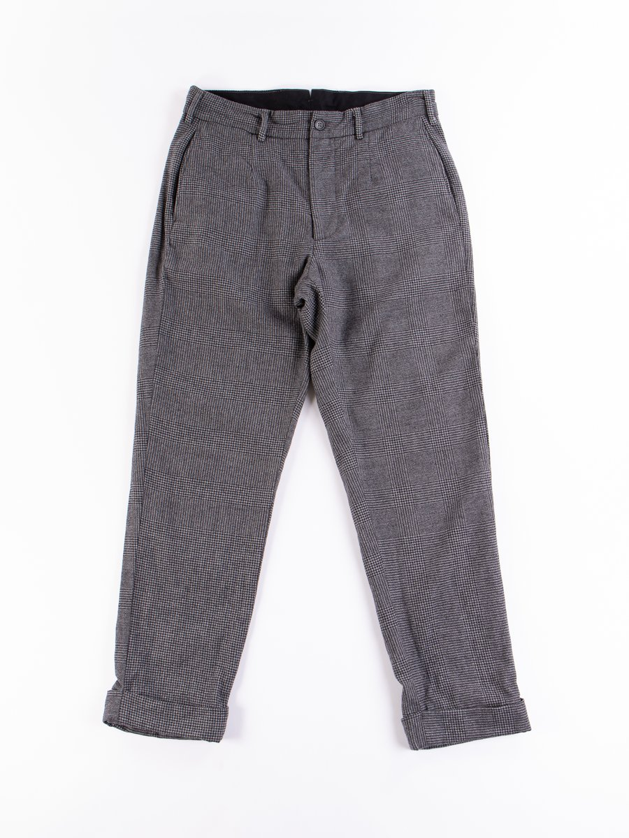 Grey Wool Glen Plaid Houndstooth Andover Pant