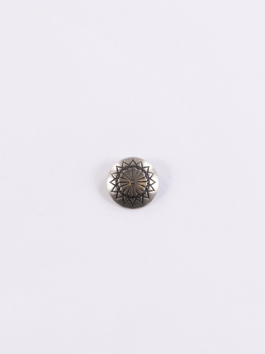 Nickel Silver Sun Flower Small Concho Pin