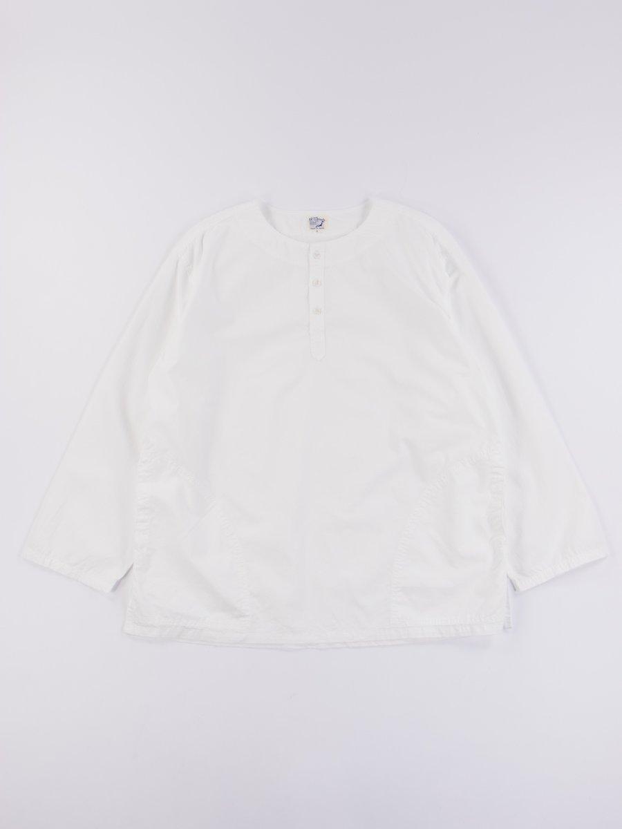 White Poplin Pullover Shirt