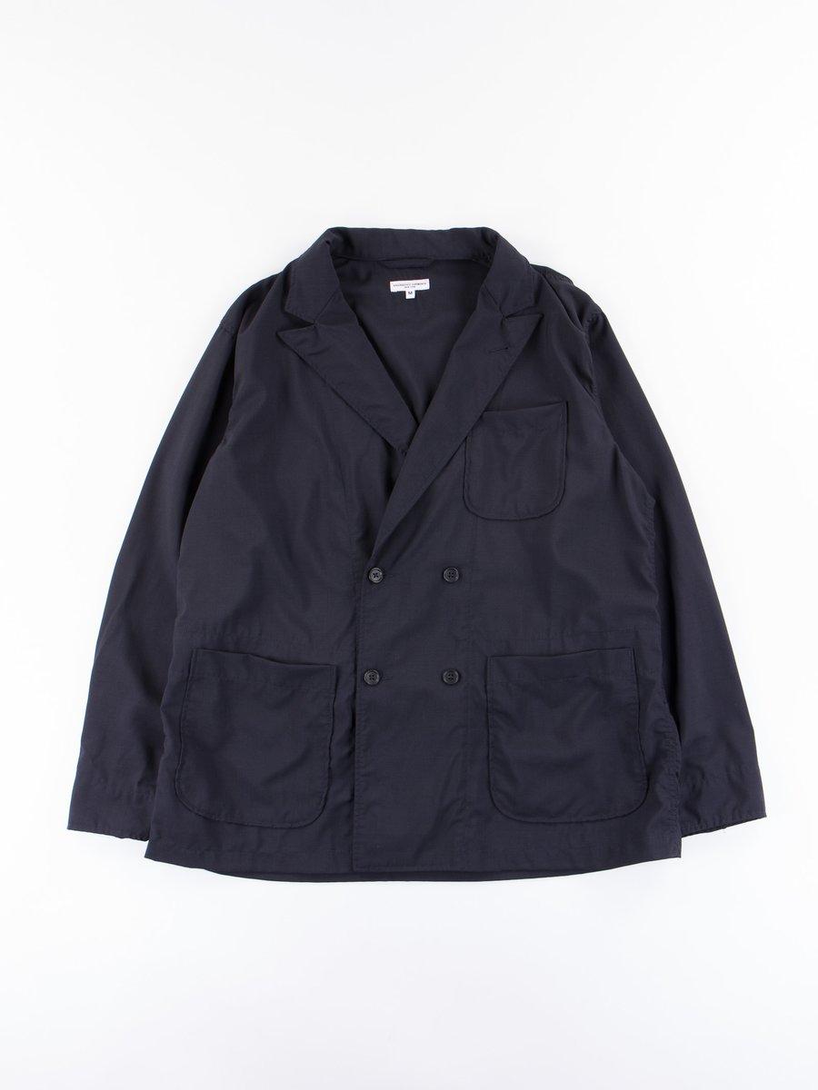 Dark Navy Tropical Wool Cordura DL Jacket