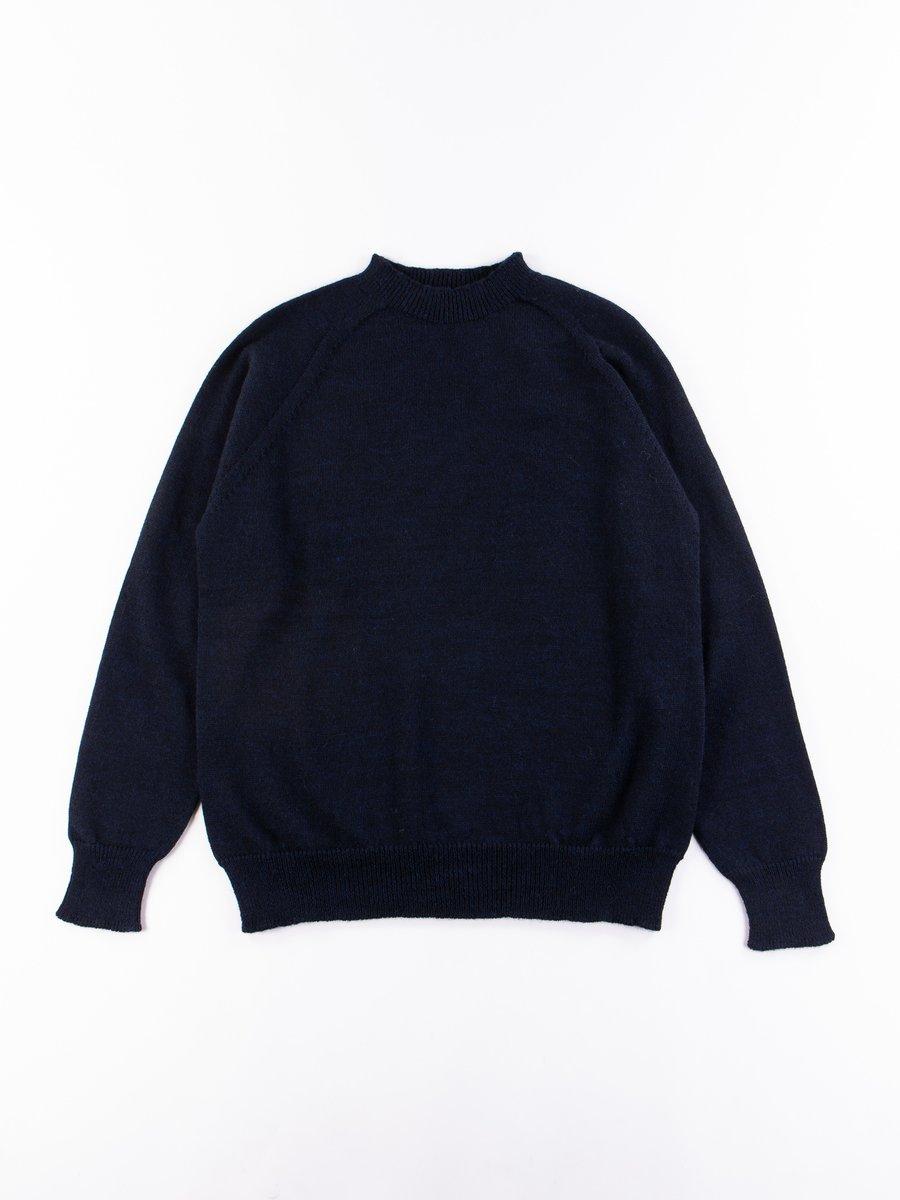 MHL Dark Navy Dry Merino Crew Neck Sweater
