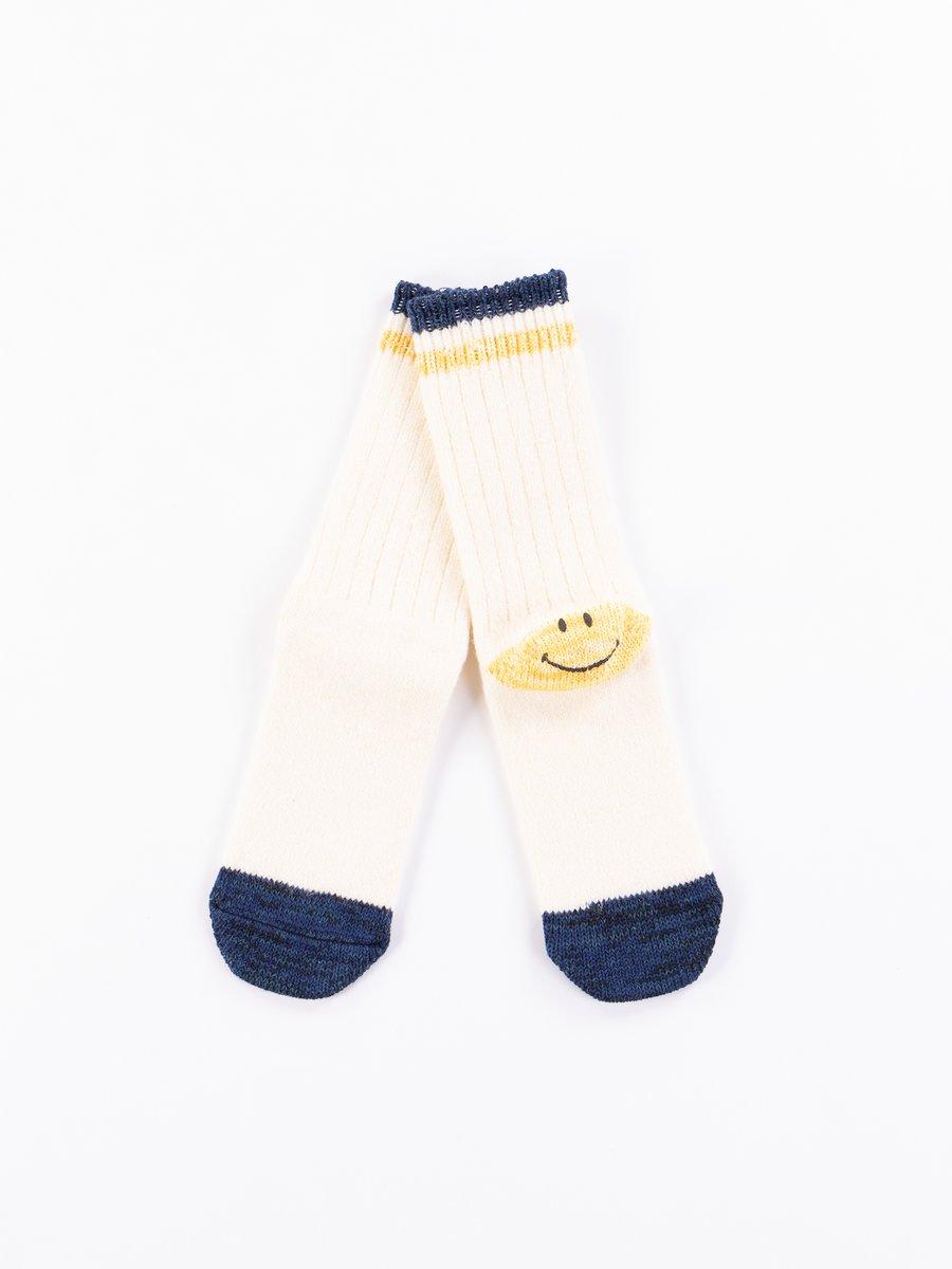 White 72 Yarns Wool Ivy Smiley Heel Socks