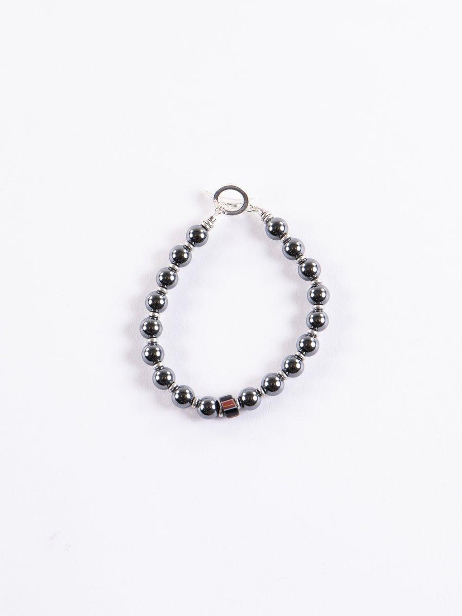 Hematite Silver Fastener Bracelet