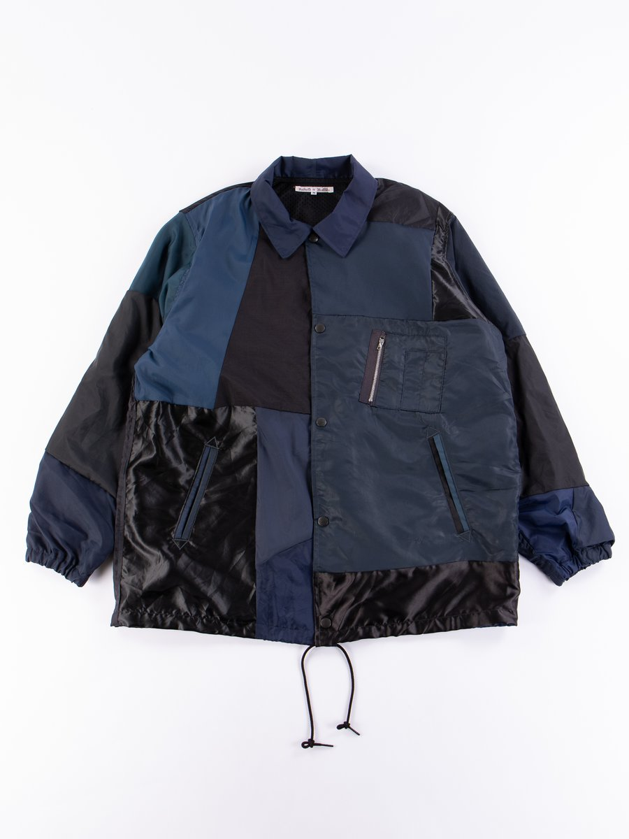 Black/Navy Rebuild Coach Jacket