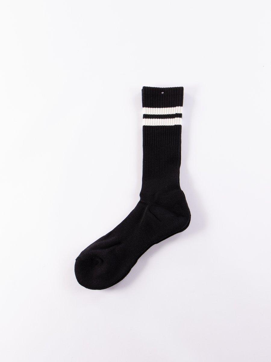 Black Cordura Line Crew Socks