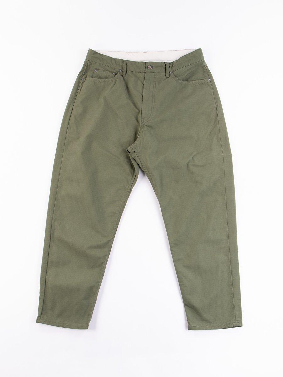 Olive Cotton Ripstop Peg Jean
