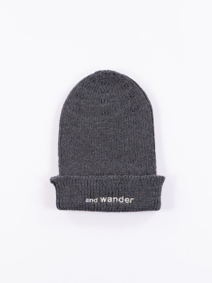 Grey Merino Wool Cap
