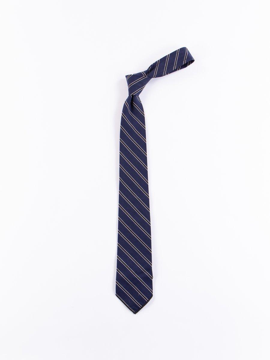 Navy/Black Regimental Stripe Neck Tie