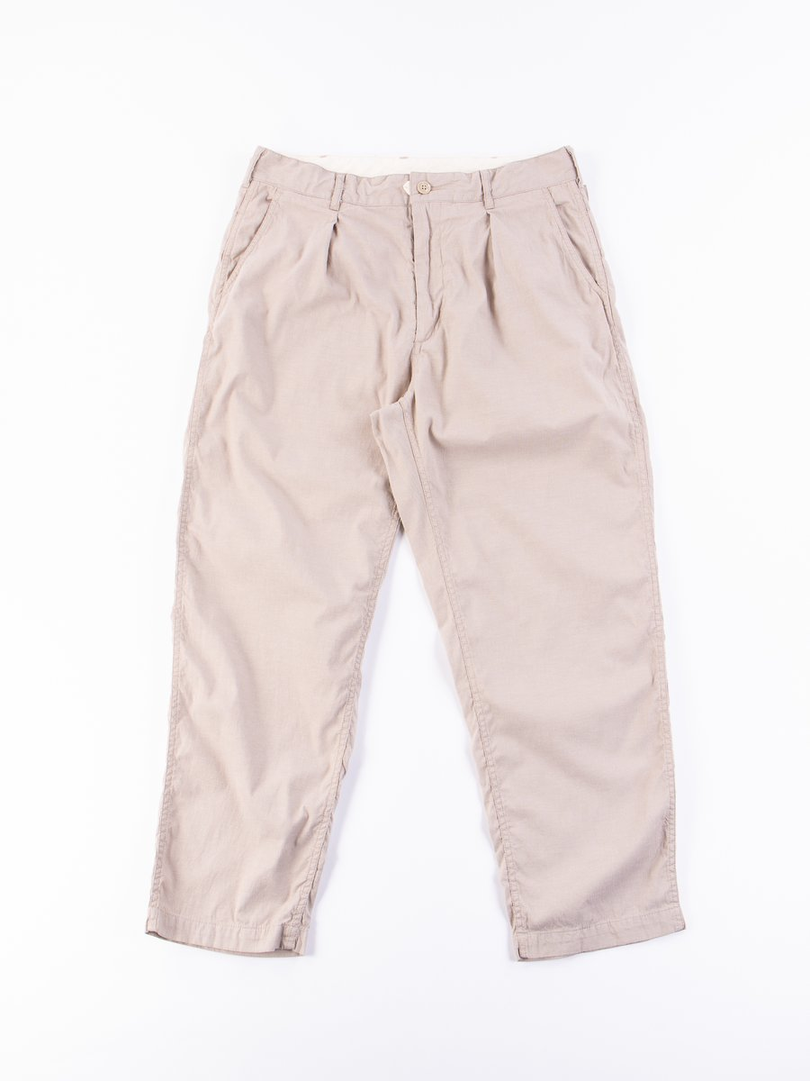Beige Cotton Cordlane Ground Pant
