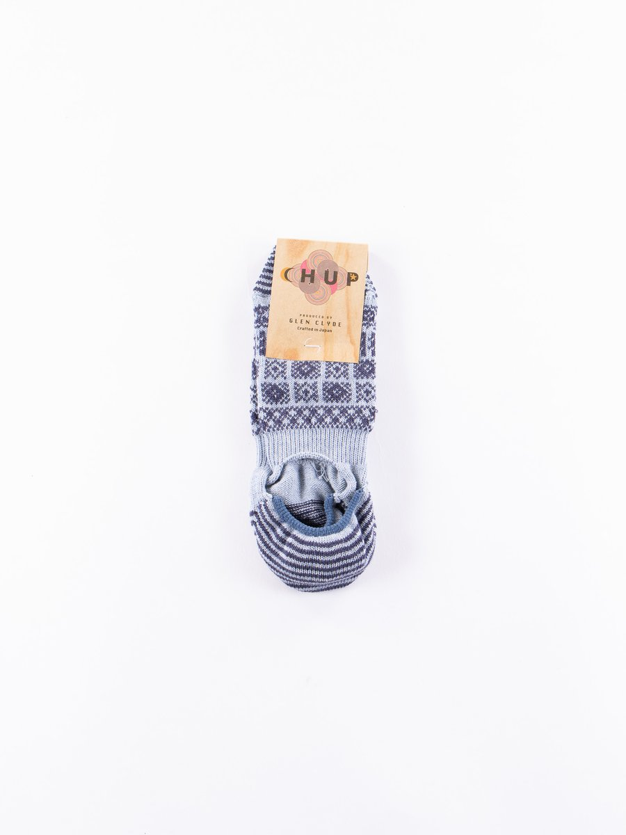 Slate Blue Modoko Trainer Socks