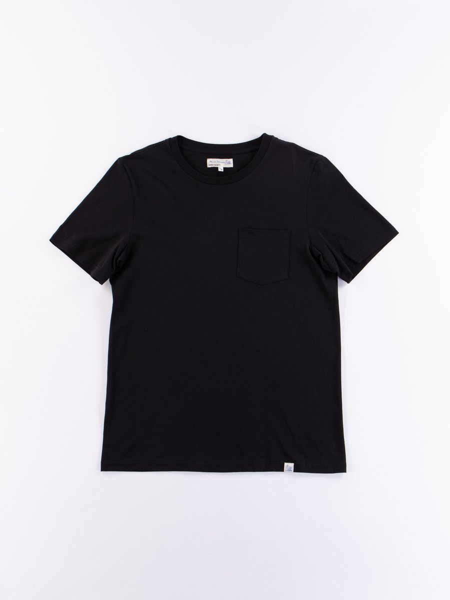 Deep Black Good Basics CTP01 Pocket Crew Neck Tee