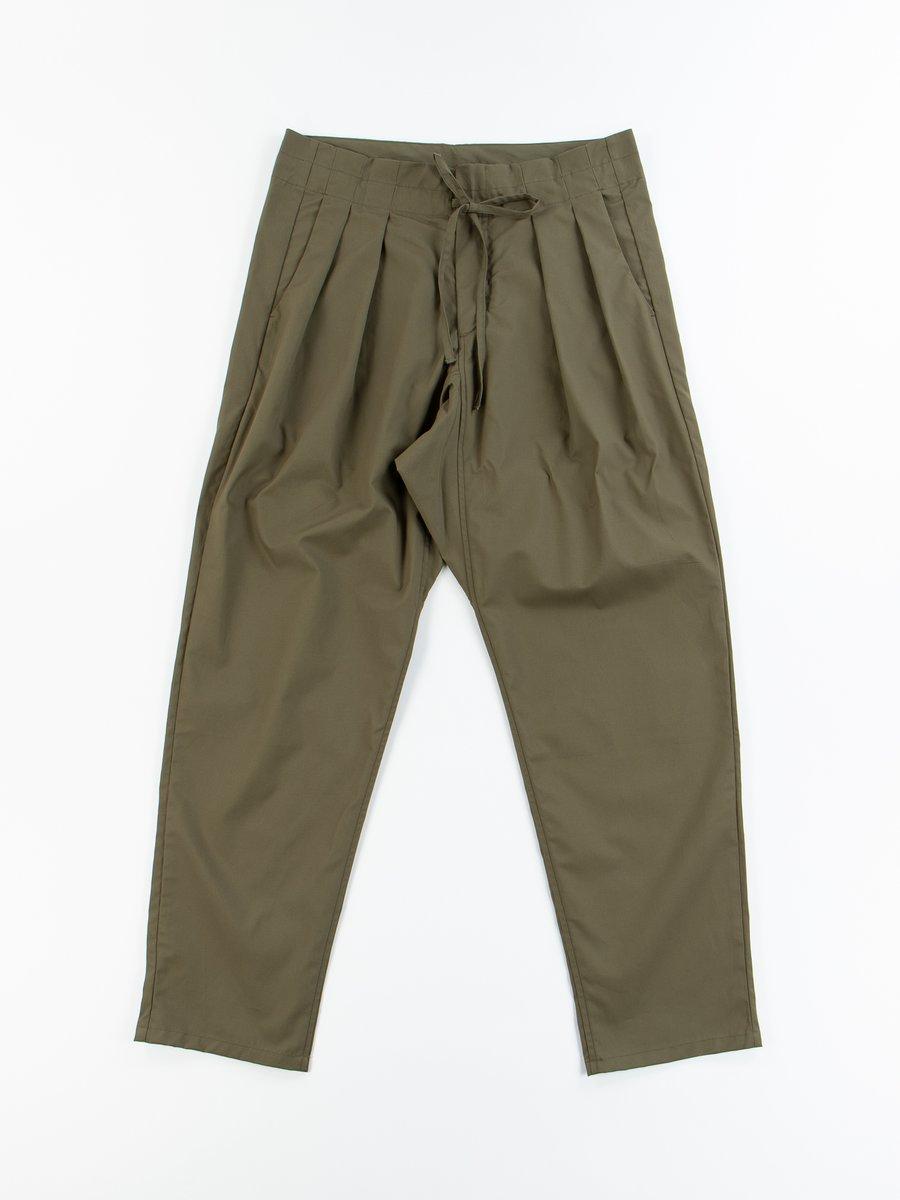 Olive Oxford Vancloth Drop Crotch Pant