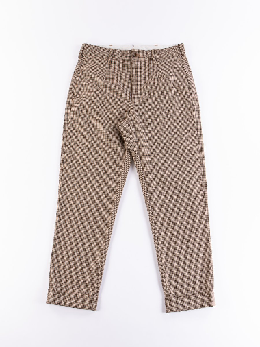 Brown Wool Poly Gunclub Check Andover Pant