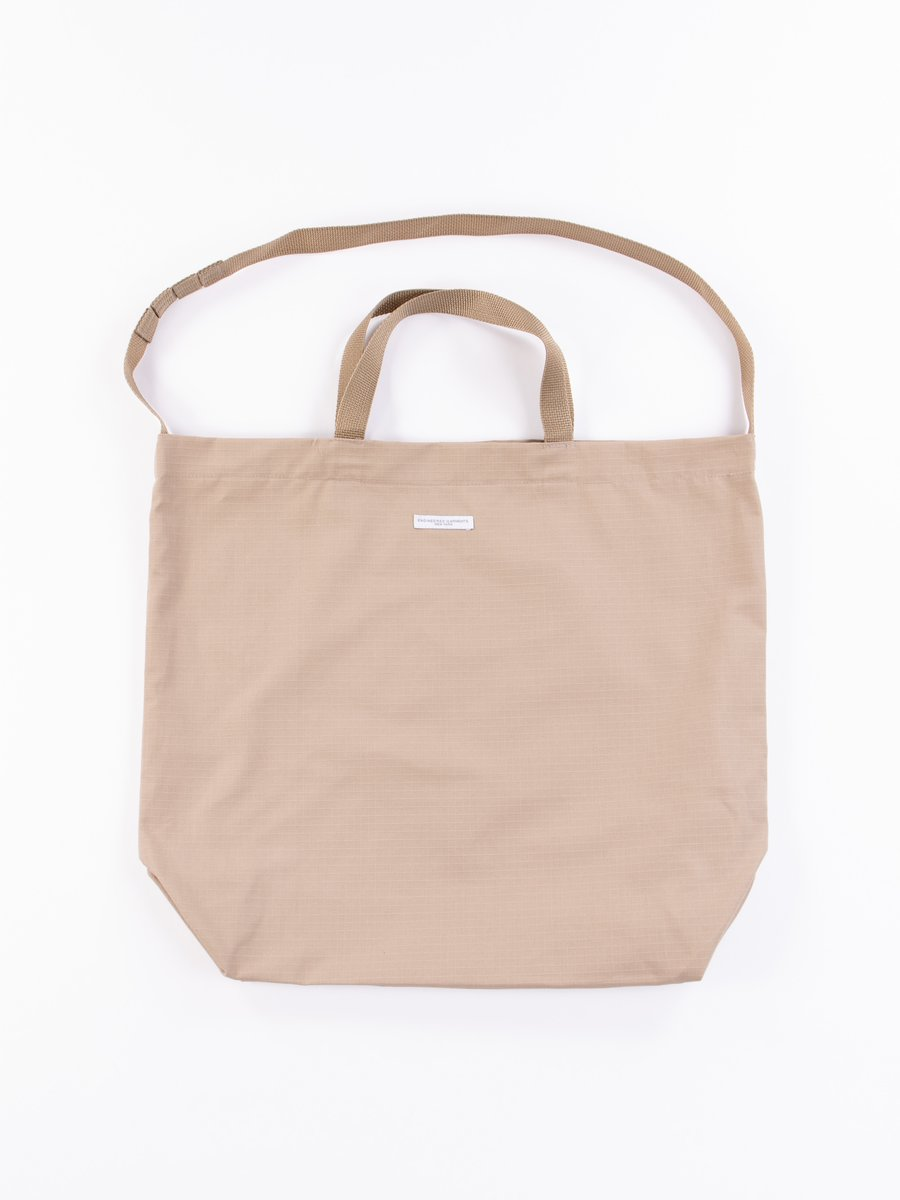 Khaki Cotton Ripstop Carry All Tote