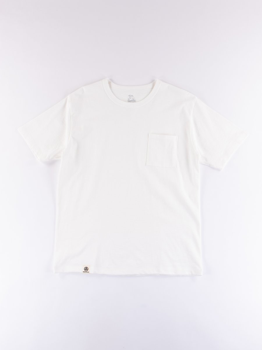 White Zimbabwe Cotton Pocket T–Shirt