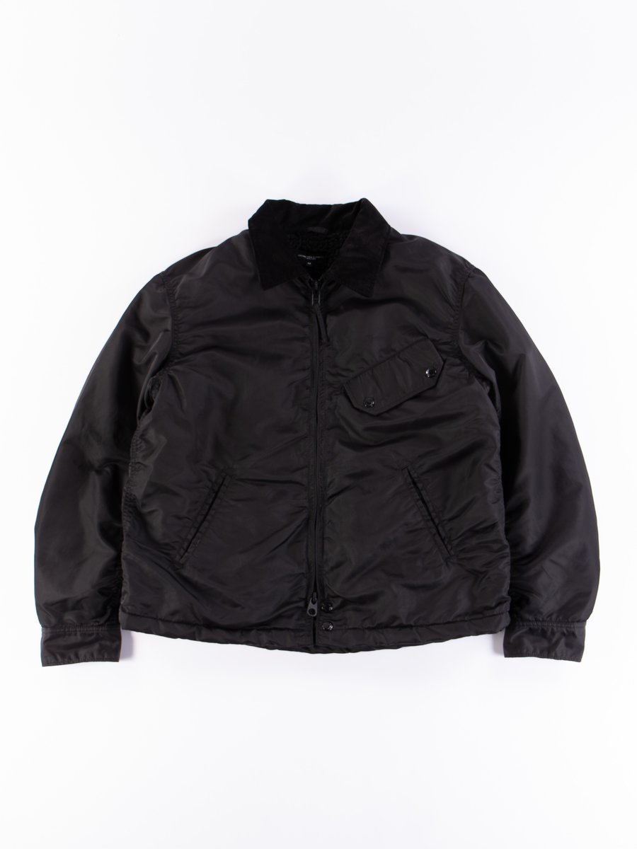 Black Flight Satin Nylon Driver Jacket