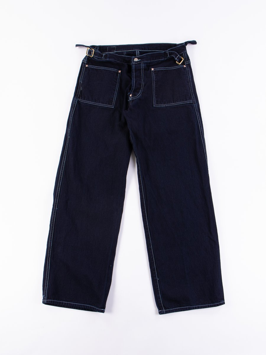 Rinse Wash Indigo/Indigo Taunton Side Cinch Oxford Trousers