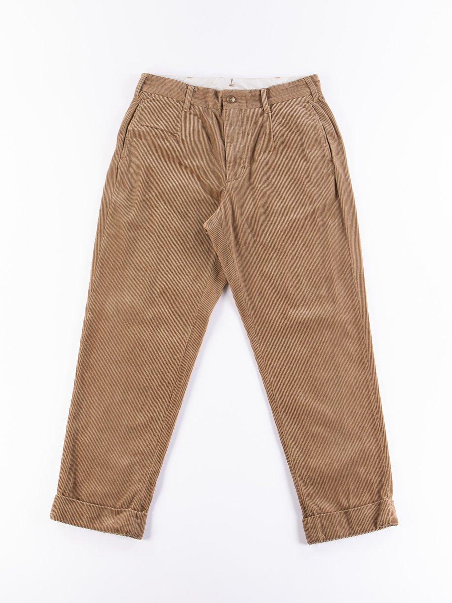Khaki 8W Corduroy Andover Pant
