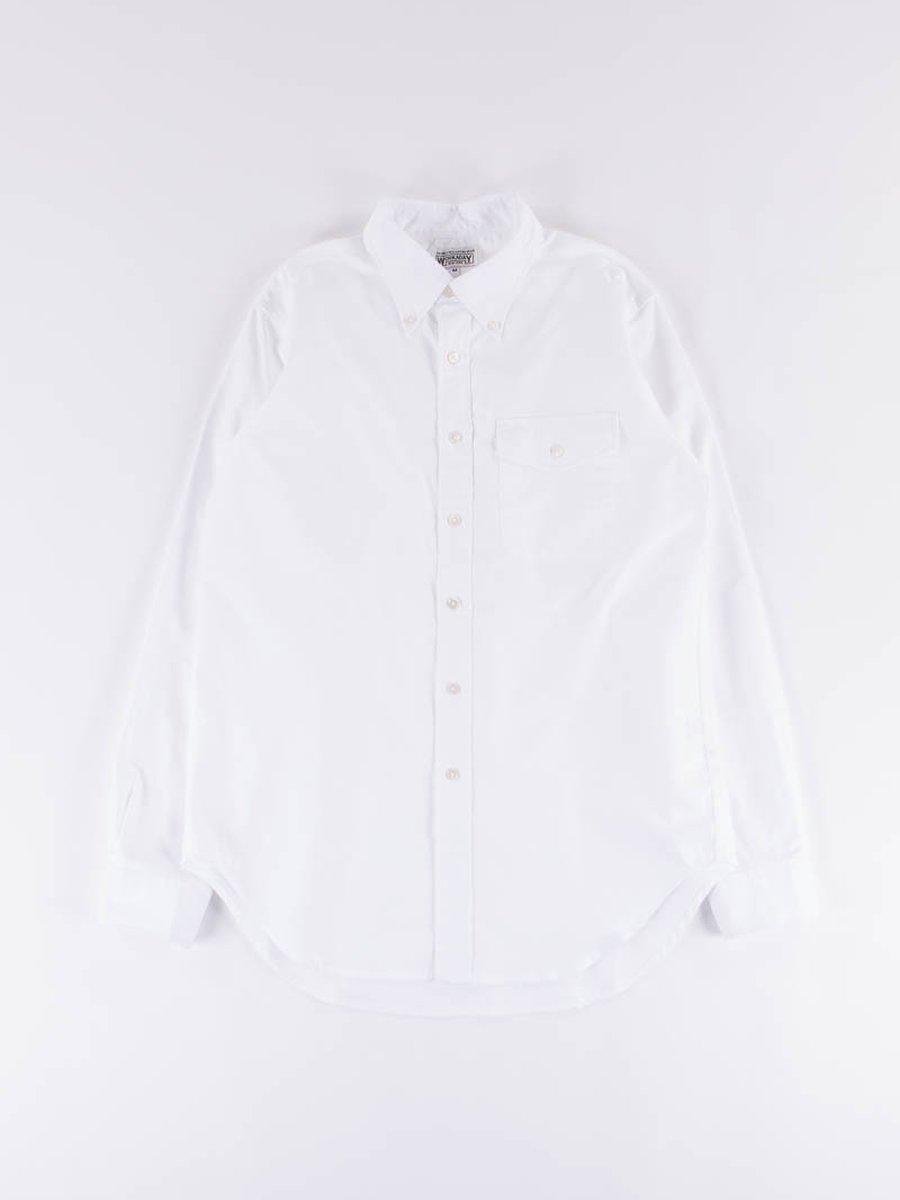 White Cotton Oxford BD Shirt