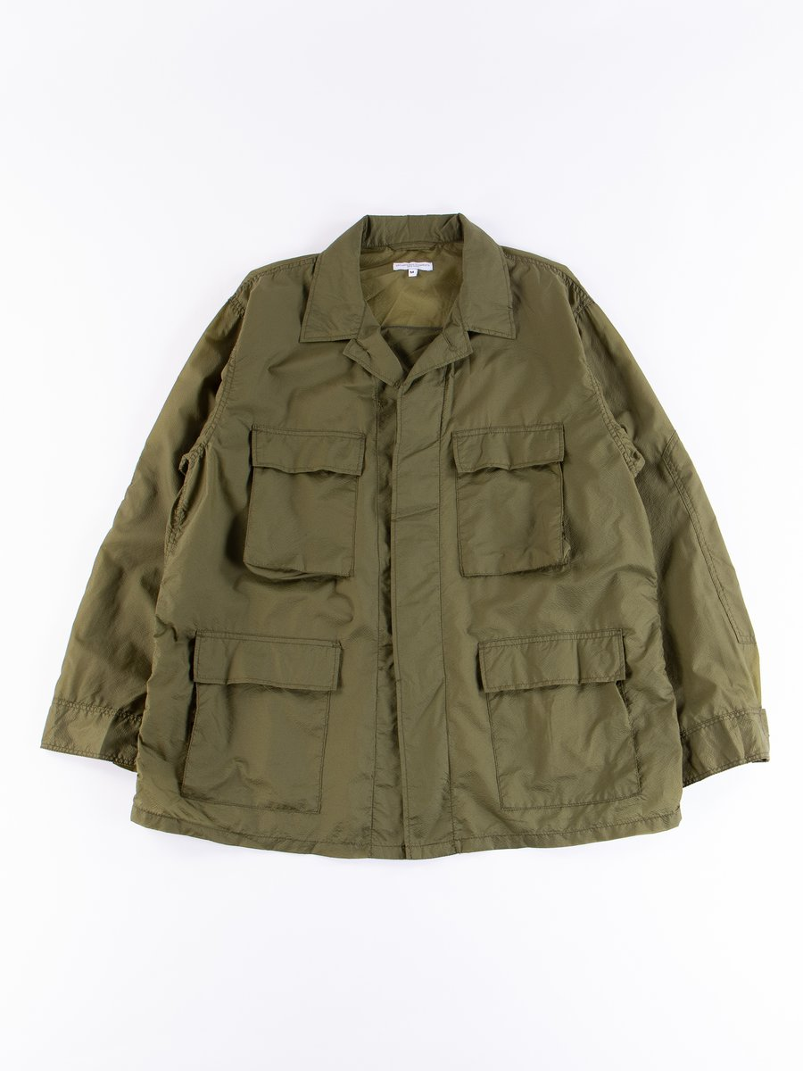 Olive Nylon Micro Ripstop BDU Jacket