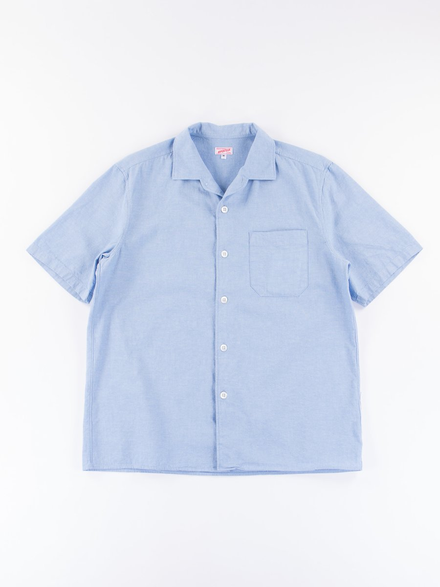 Light Blue Chambray Pyjama Shirt