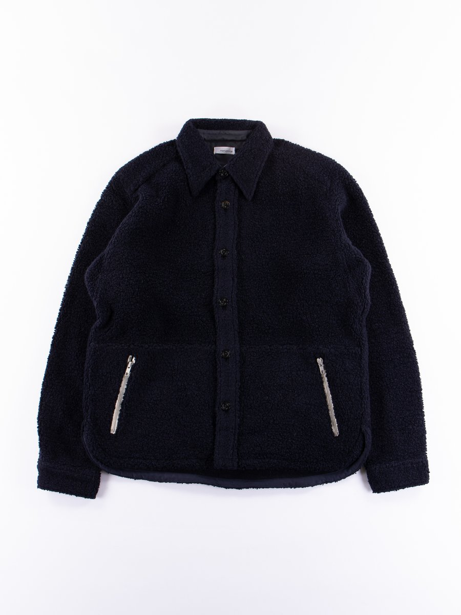 Navy Pile CPO Jacket