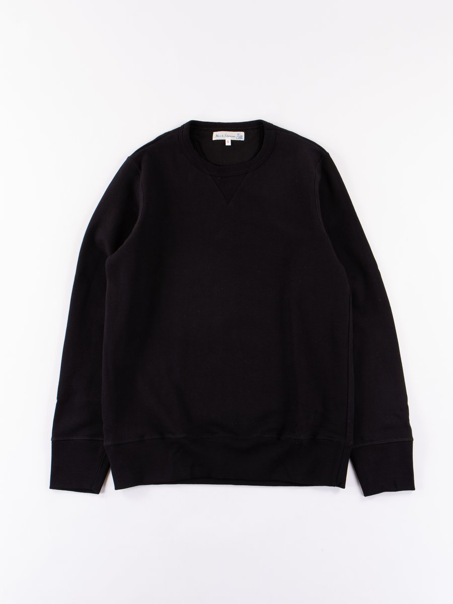 Deep Black 3S48 Organic Cotton Heavy Sweater