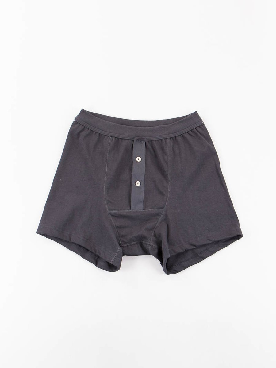 Charcoal 255 Button Facing Underpant