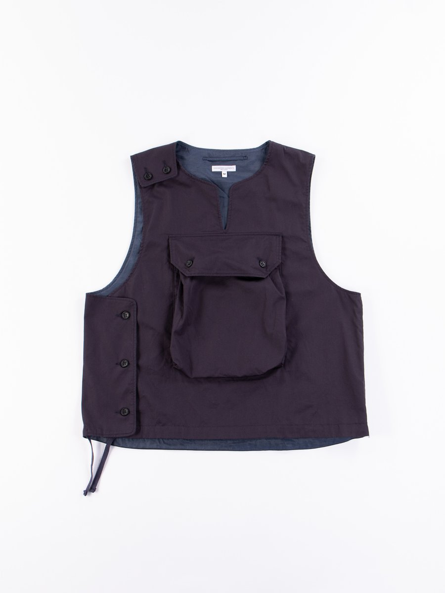 Dark Navy Highcount Twill Cover Vest