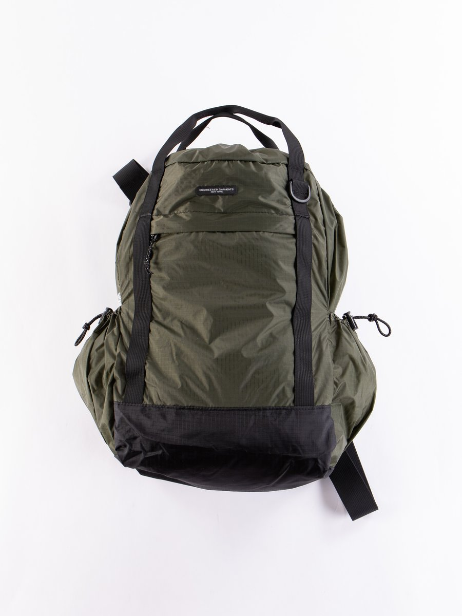 Olive Nylon Ripstop UL 3 Way Bag