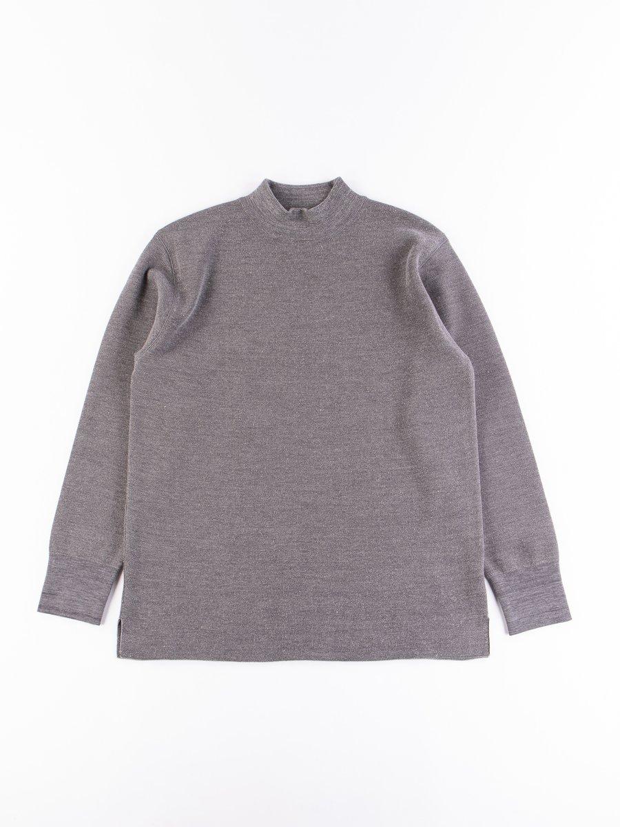 Grey Mockneck Long Sleeve