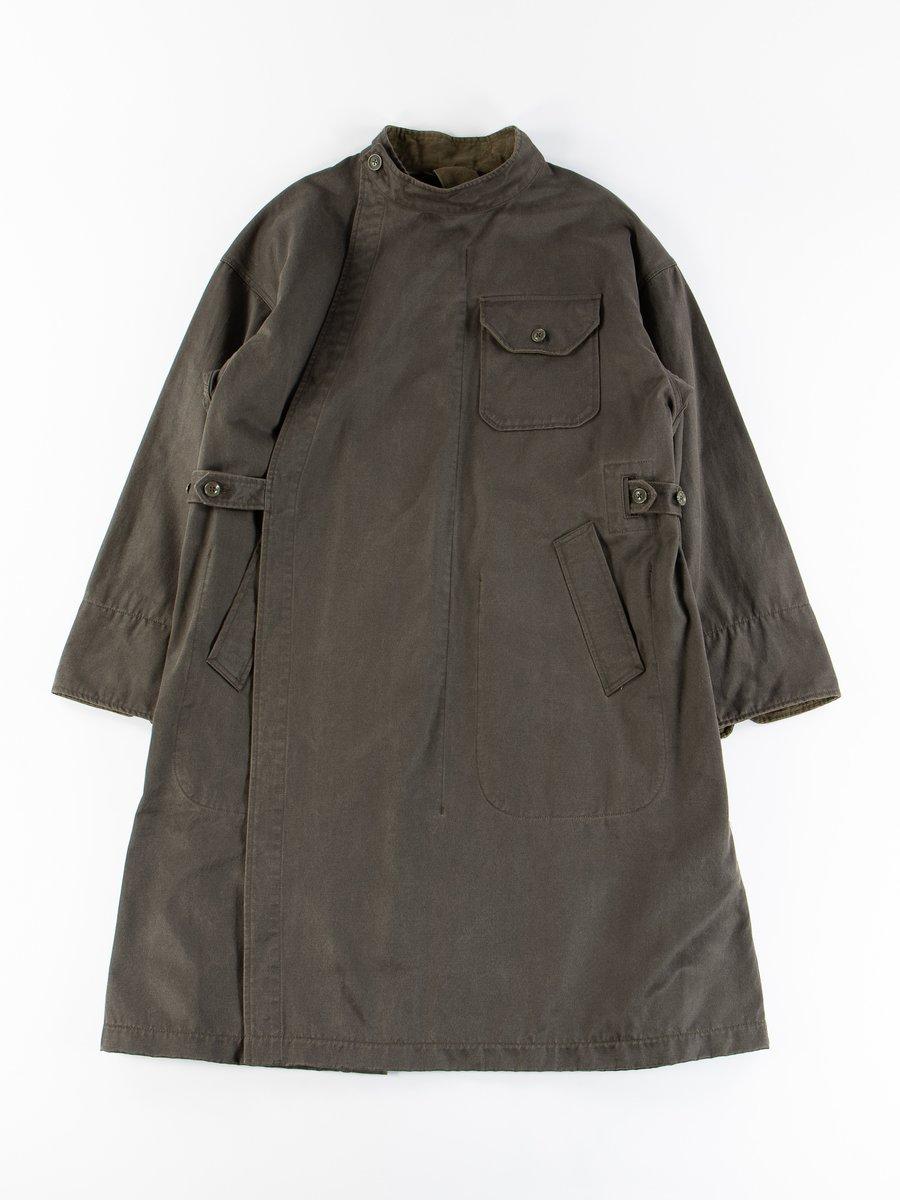 Dark Olive Coated Twill MG Coat