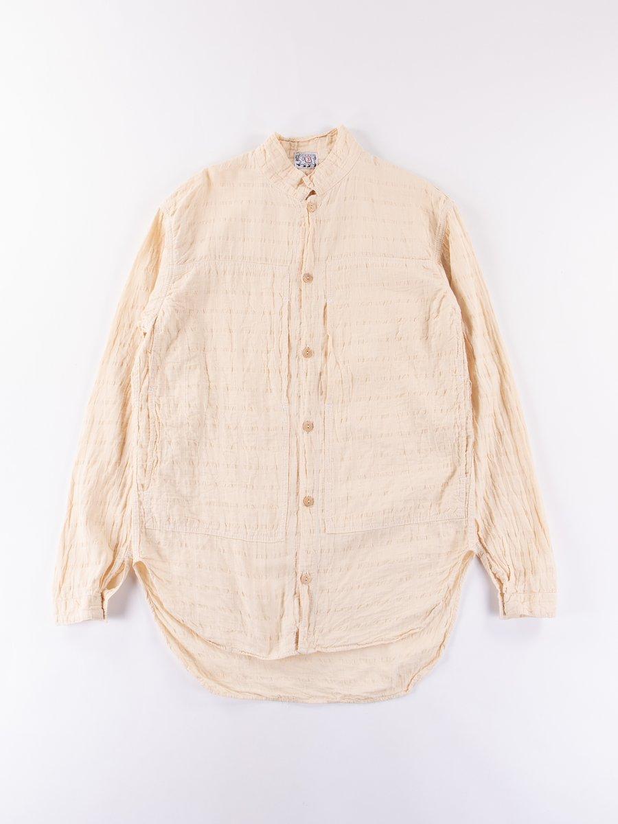 Rinse Wash Airbag Cambric Periscope Pocket Tail Shirt