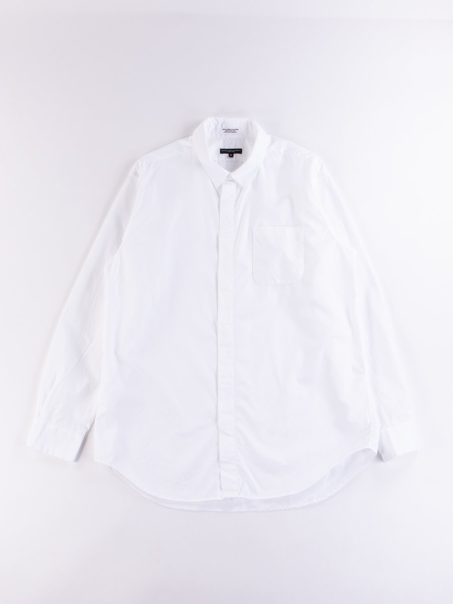 White 100's 2Ply Broadcloth Short Collar Shirt