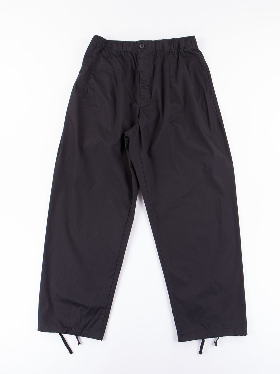 Black High Count Twill New Balloon Pant