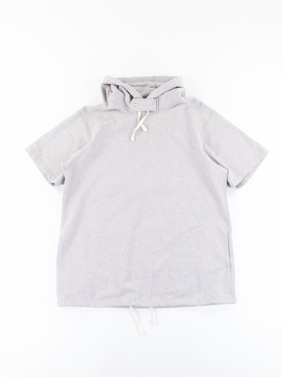 Heather Grey French Terry Short Sleeve Hoody