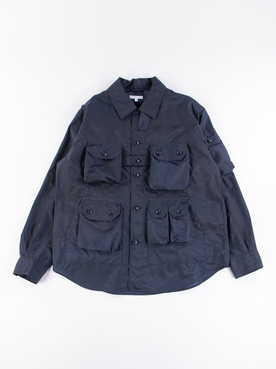 Navy Nylon Micro Ripstop Explorer Shirt Jacket
