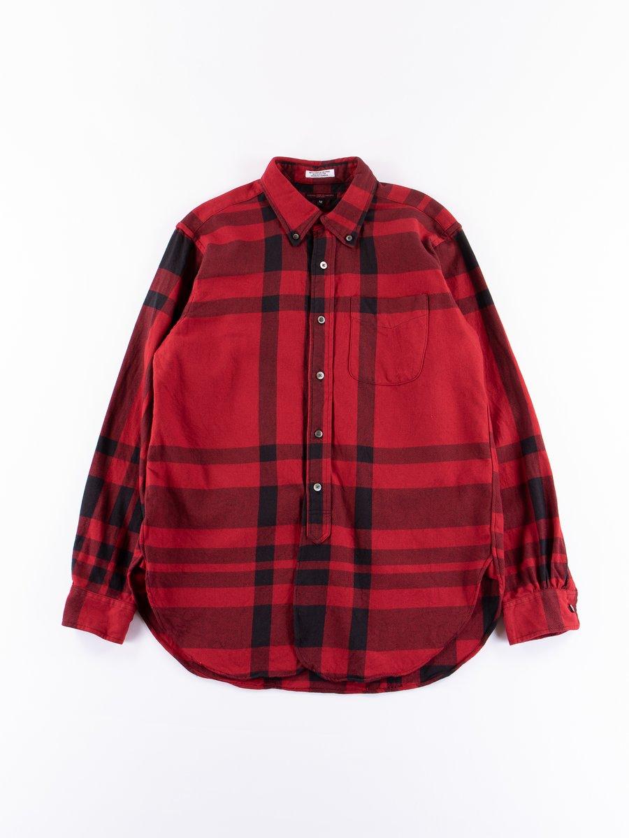Red/Black Big Plaid 19th Century BD Shirt