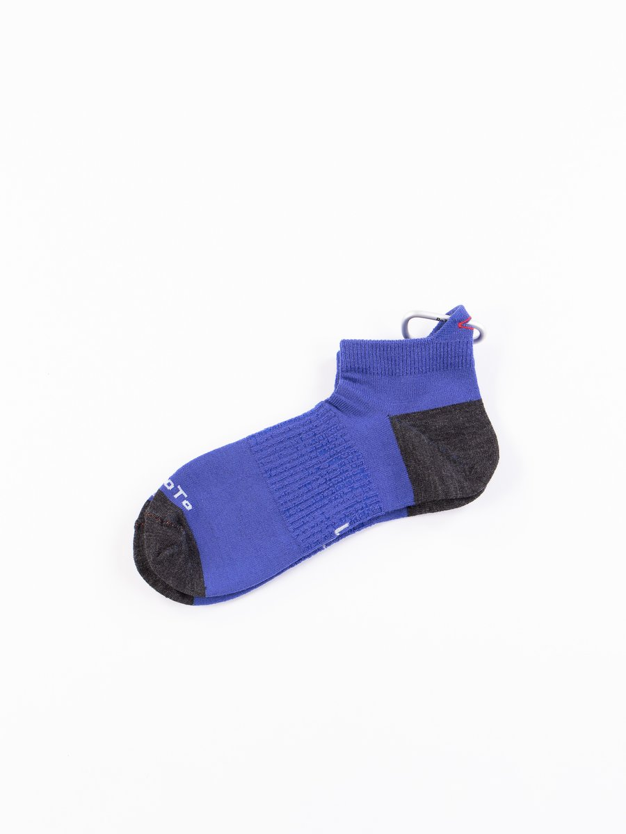 Blue/Charcoal Hiker Trash Crew Socks