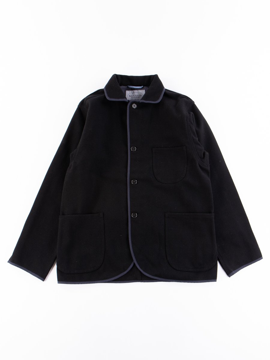 Black Dobby Melton Jacket