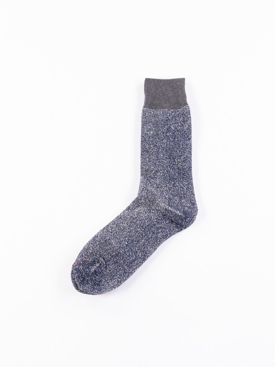 Dark Grey/Navy Double Face Socks