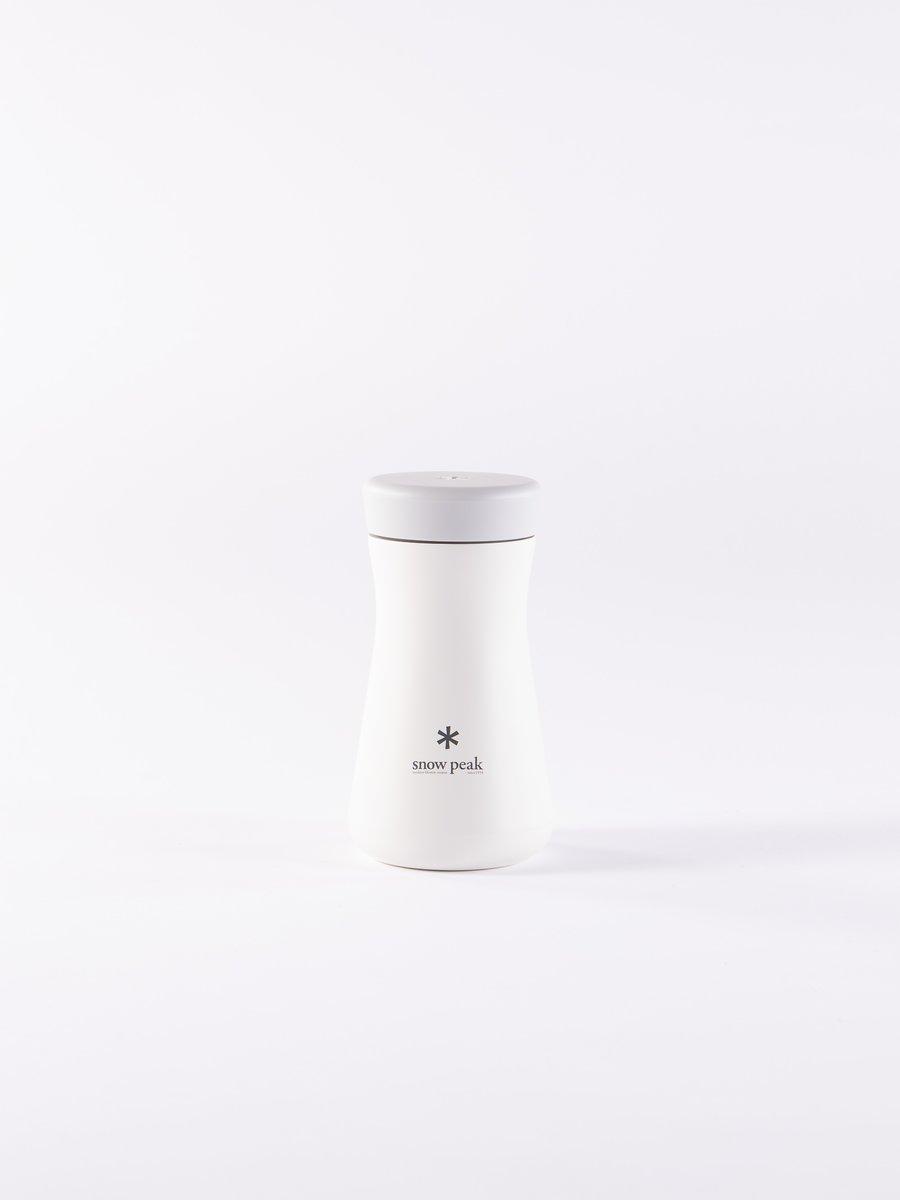 White TSUZUMI 350 Stainless Vacuum Bottle