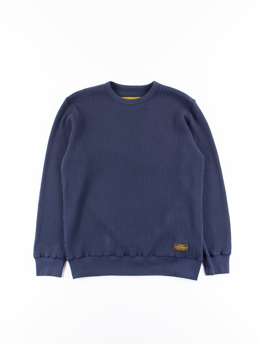 Navy Big Waffle C–Crew Thermal Shirt