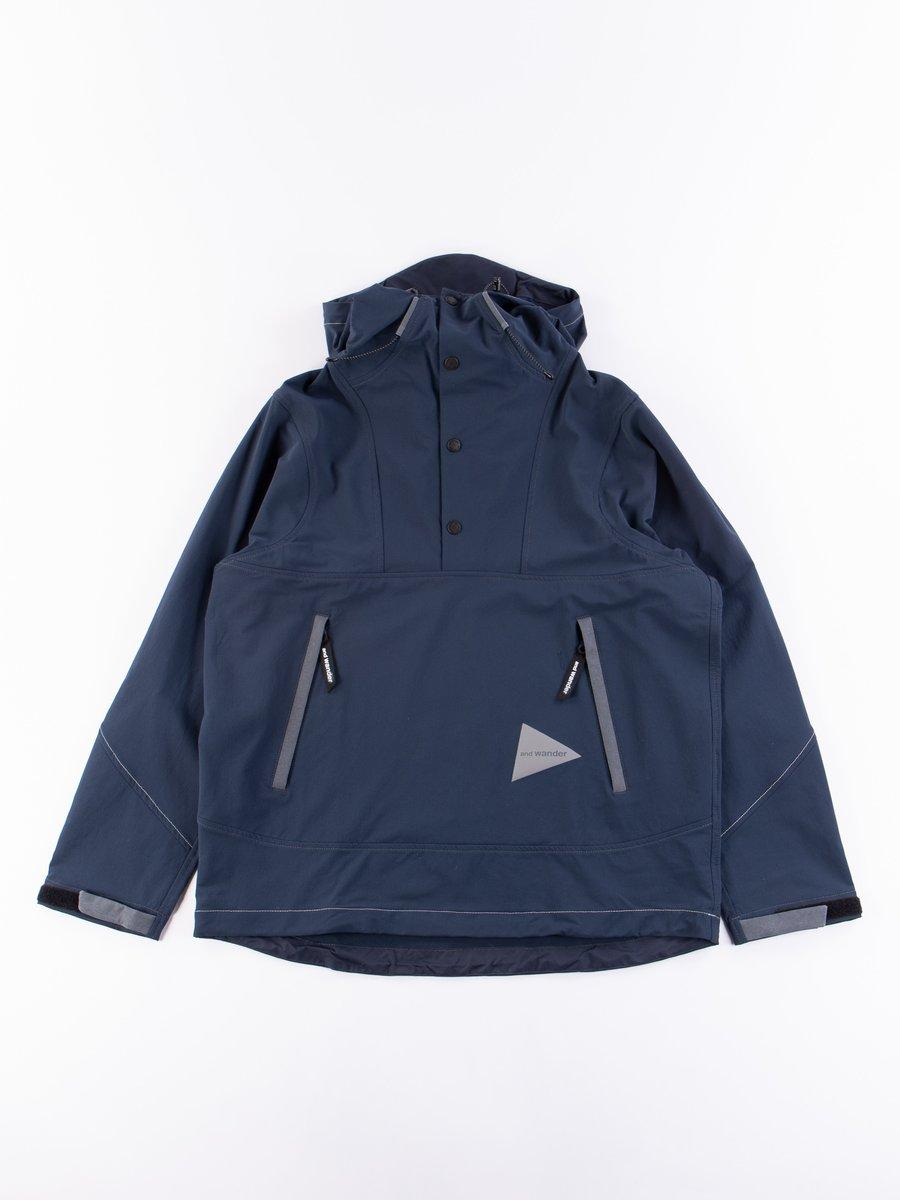 Navy Nylon Cloth Hoodie