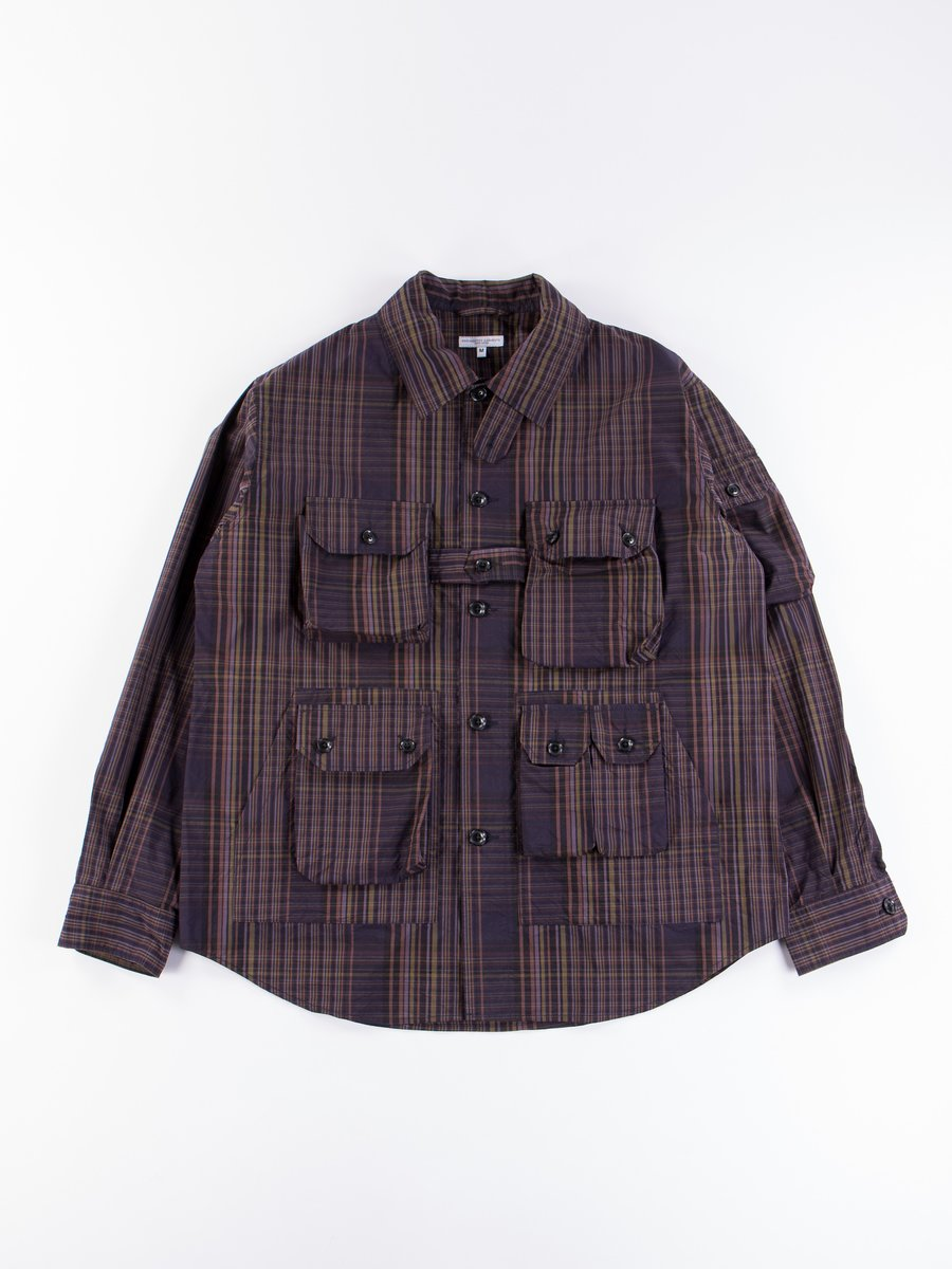 Multi Color Nyco Plaid Explorer Shirt Jacket