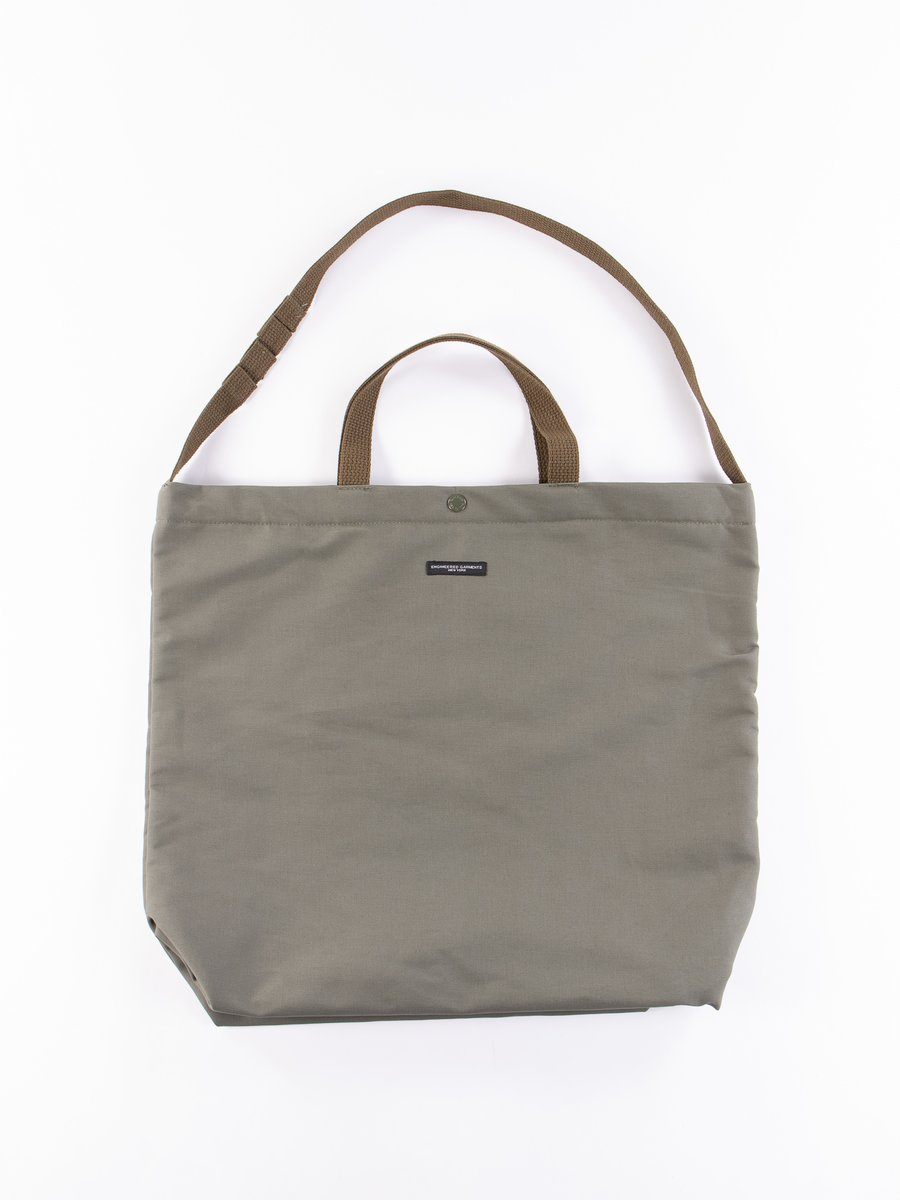 Olive Cotton Double Cloth Carry All Tote